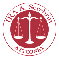 personal injury attorney logo ira a serebrin